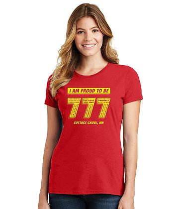 Proud 777 - Ladies T-shirt - Bright Red