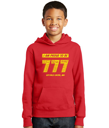 Proud 777 - Youth Hoodie - Bright Red
