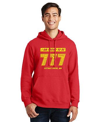 Proud 777 - Adult Hoodie - Bright Red