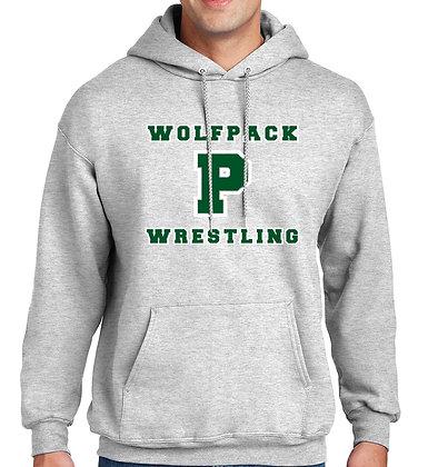 Wolfpack Wrestling Hoodie - Gray