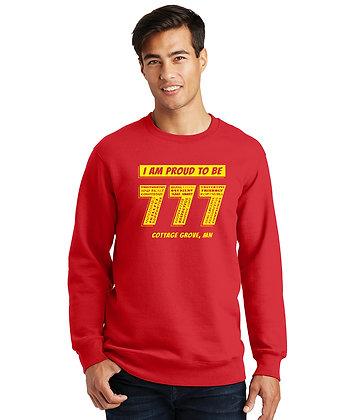 Proud 777 - Adult Fleece Sweatshirt - Bright Red