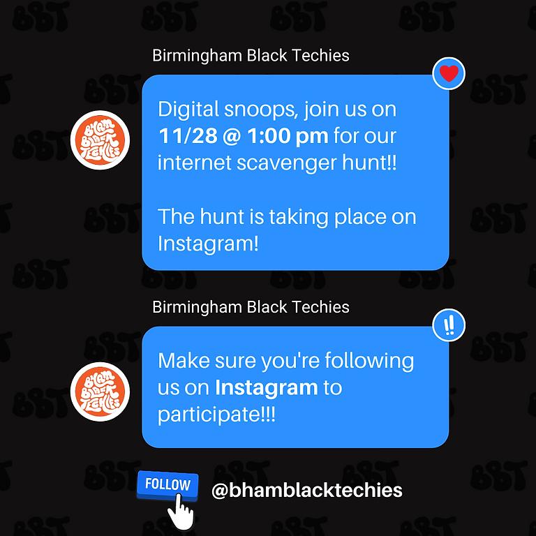 Internet Scavenger Hunt #BhamBlackTechies Edition