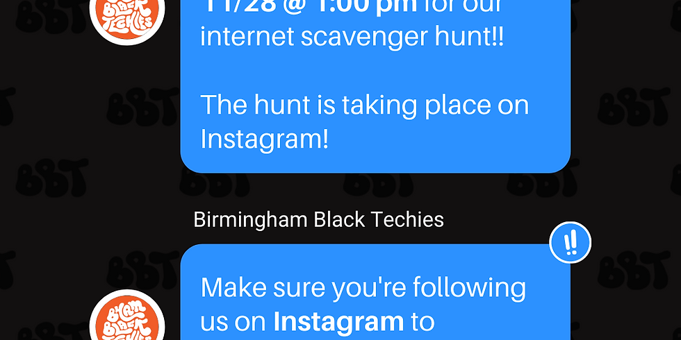 Internet Scavenger Hunt #BhamBlackTechies Edition