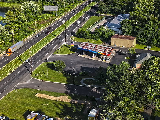 High Dynamic Range Photo of gas station on RT 73 in Maple Shade