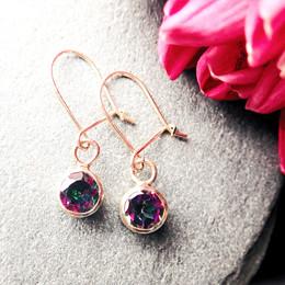 Mystic green Topaz Earrings