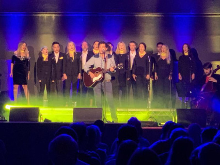 EY Choir sings in National Stadium