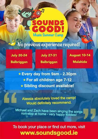Sounds Good - Summer Camp Poster Social