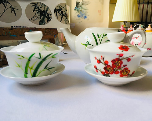 Chinese Porcelain Teacups Painting Workshop | One-Off Class