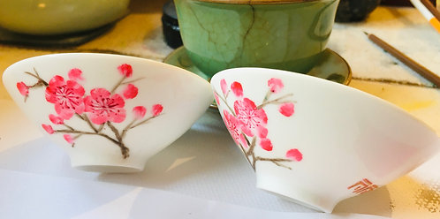 Chinese Teacups Painting - Porcelain Cups