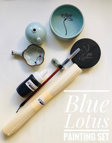 Lotus Blue Painting Set