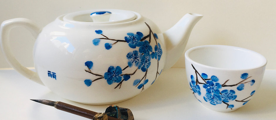 Online Group Teapot Painting Workshop + Tools Kit