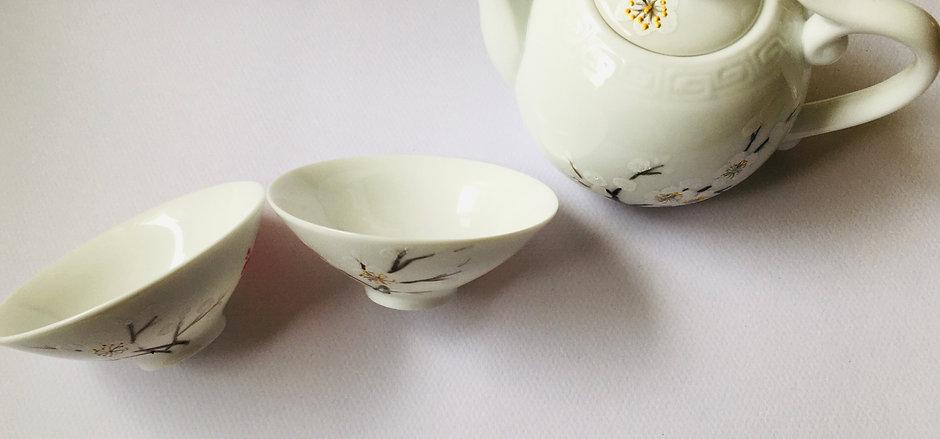 Online Group Chinese Tea set Painting Workshop + Tools Kit
