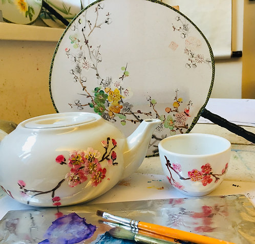 Chinese Teapot Painting One-Off Workshop