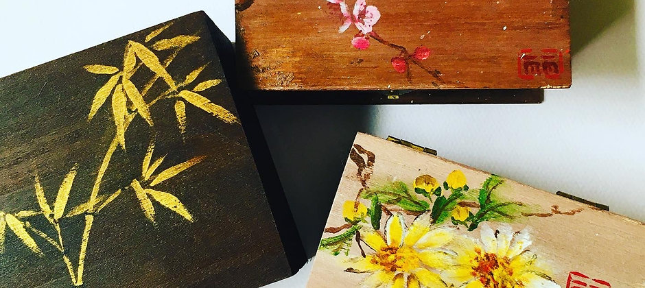 Wooden Jewelry Box Painting Workshop