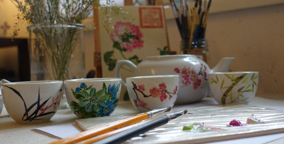 Chinese Ceramic Teacups Painting Workshop | One-Off Class