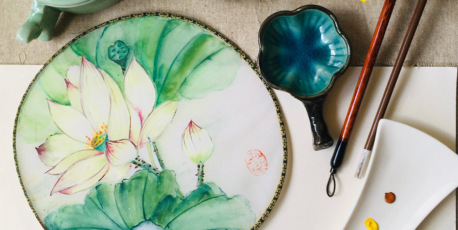 Chinese Lotus Fan Painting Workshop | 2 Condensed Classes