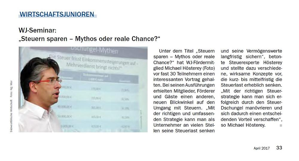 Steuern sparen - Mythos oder reale Chance?
