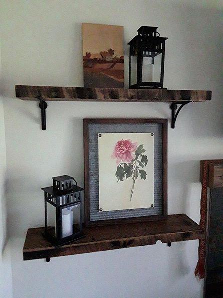 Custom wooden shelving