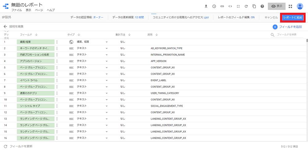 GoogleデータポータルとGoogleアナリティクス連携11