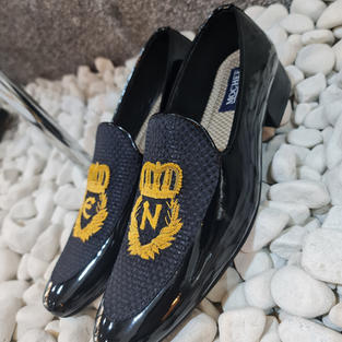 Hand Made Patient Loafers With Initials