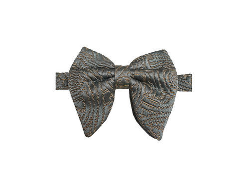 Grey Paisley Jacquard Butterfly Bowtie