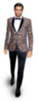 paisley damask wedding tuxedo blazer