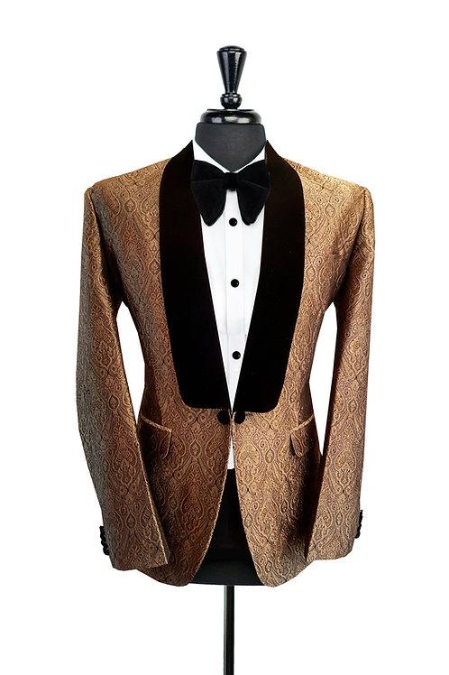 Gold Brocade Jacquard Jacket