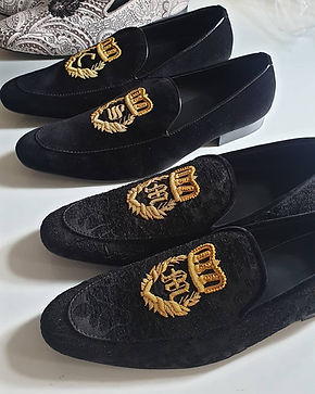 bespoke shoes leather velvet hand made pattern shoes patent shoes loafers slip on tuxedo wedding