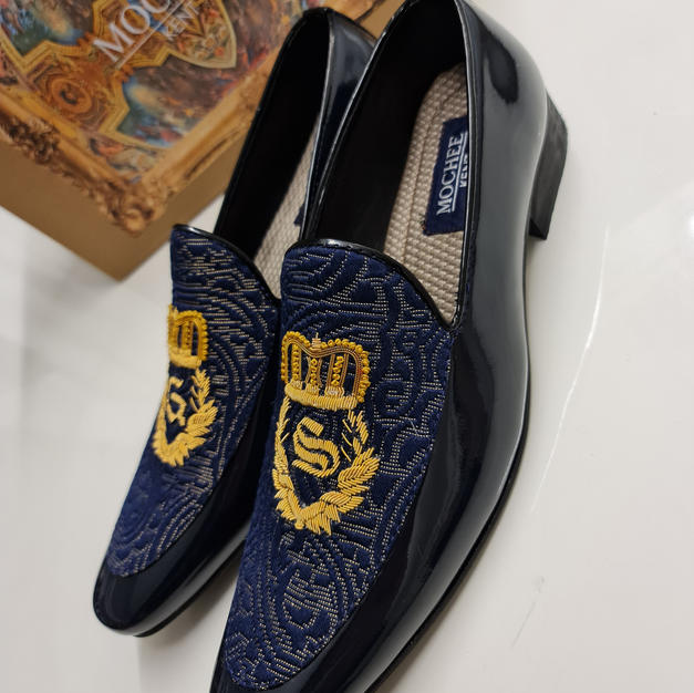 Blue Paisley Loafers