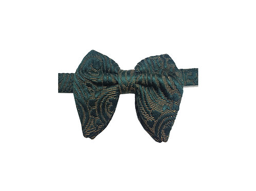 Green Paisley Jacquard Butterfly Bowtie
