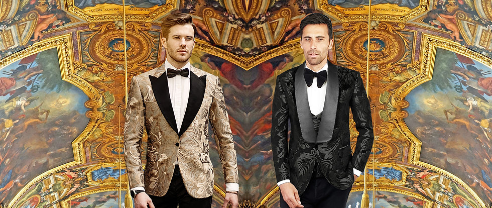 mochee kent mochee bespoke tailor alterations wedding suit white black dinner jacket paisley tuxedo london luxury tuxedo black tie event bow tie sherwani wedding evening wear wedding gown shaadi luxury london couture pattern damask paisley jacket 3 piece suit tailor made tuxedo bespoke fashion men fashion waistcoat velvet black blue green peak lapel shawl lapel silk trousers formal event formal wear masquerade ball party birthday party suit jacket holborn London office party stylist catwalk fashion show shirt