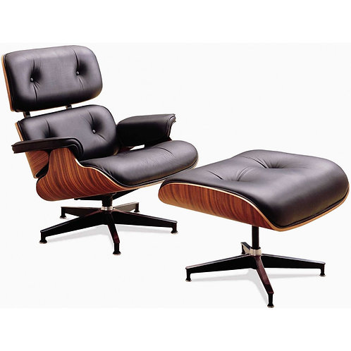 Eames Style - Lounge Chair & Foot Rest