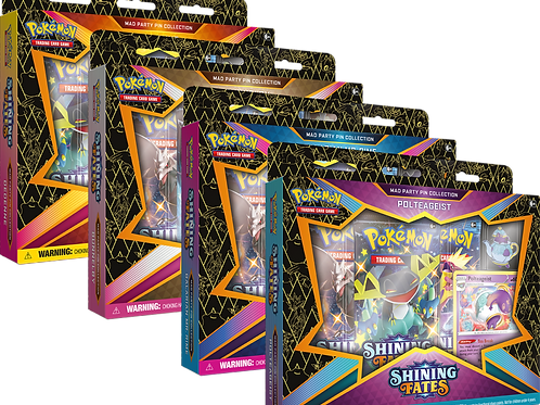 Shining Fates Mad Party Pin Collection Box