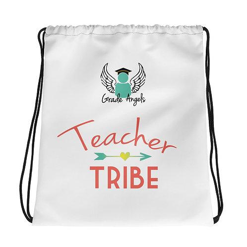 Teacher Tribe Drawstring bag
