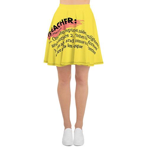 Teacher Definition Skater Skirt