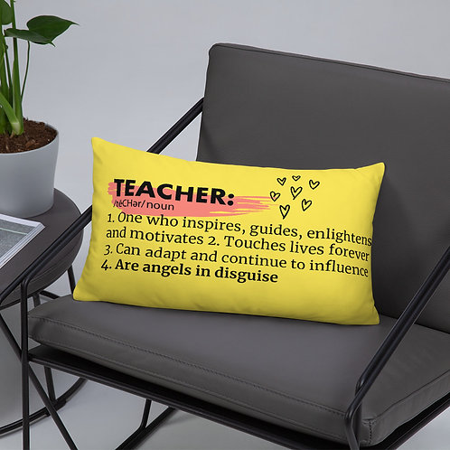 Teacher Definition Yellow Pillow