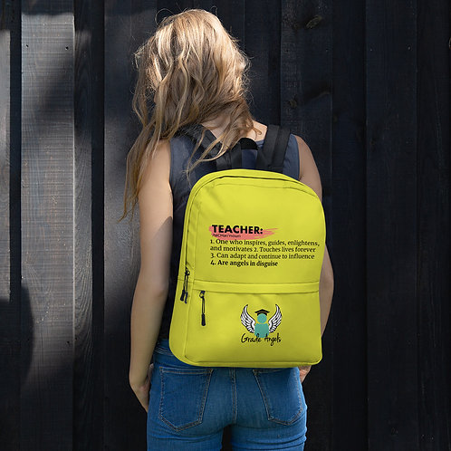 Teacher Definition Yellow Backpack