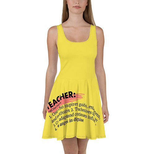 Teacher Definition Skater Dress
