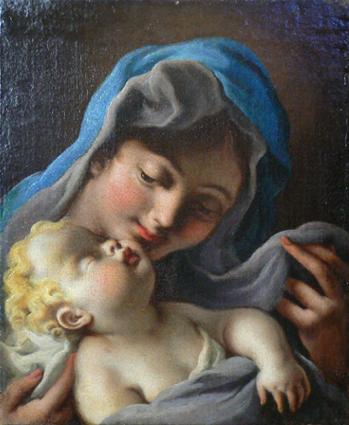 Madonna che contempla il Bambino dormiente