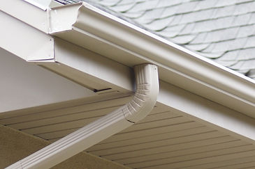 New gutter and downspout installed on home, property, commercial, apartment, and industrial building