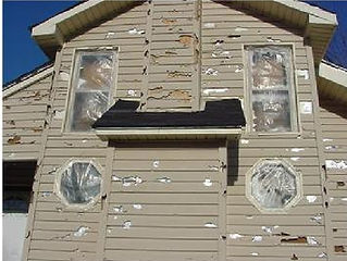 home or property hail damage roofing, window, paint, and siding restored or repaired