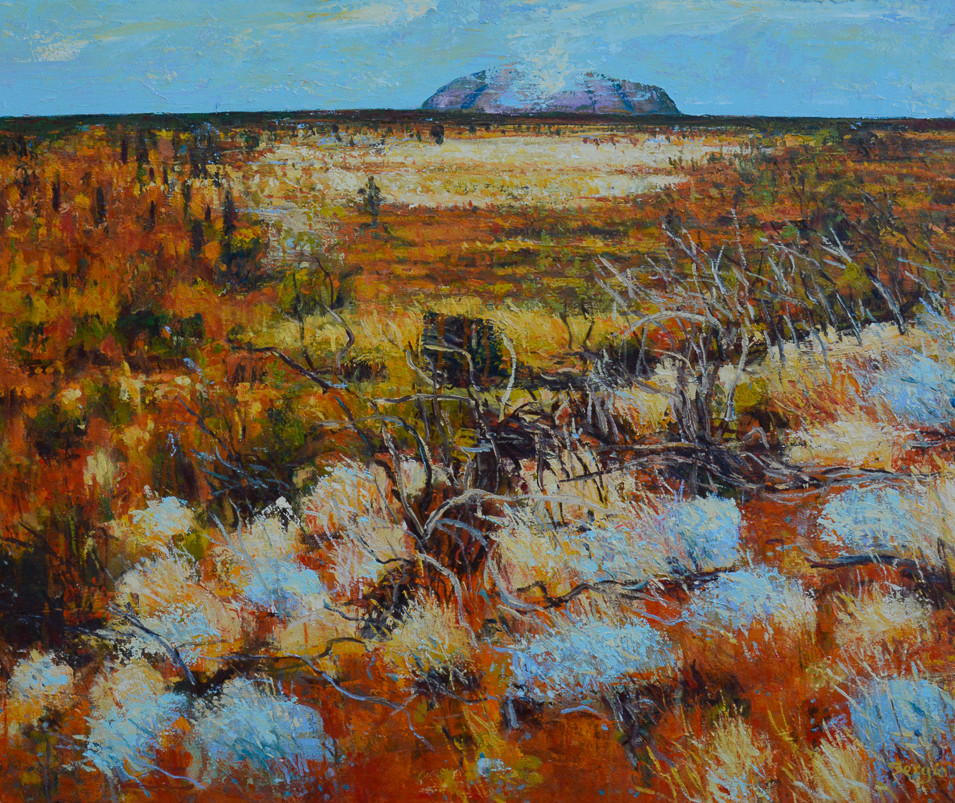SOLD - Uluru Story - Oil on canvas - 1120 x 920mm