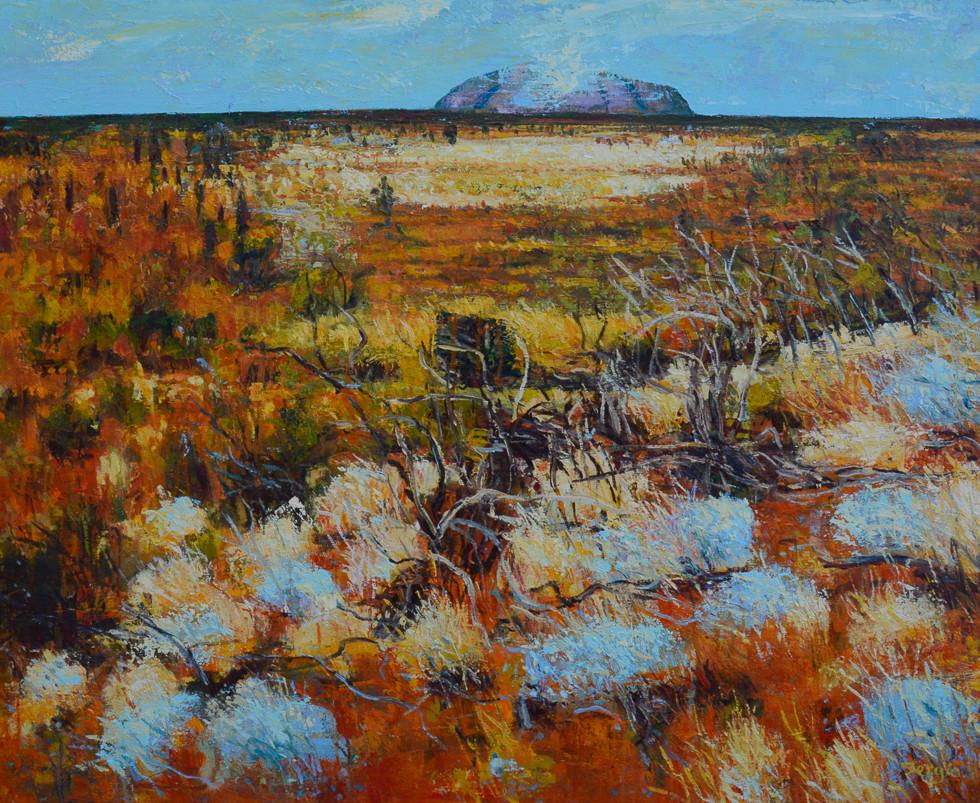 SOLD - Uluru Story - Oil on canvas - 1120 x 920mm