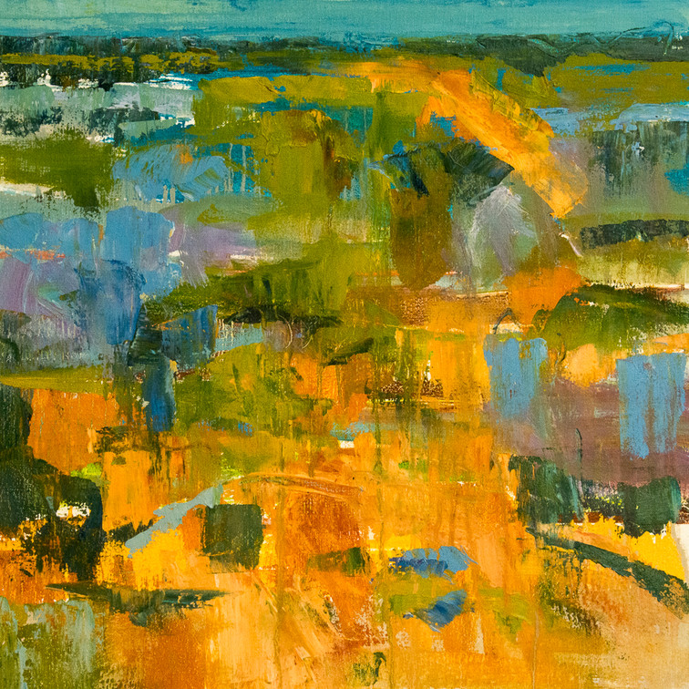 SOLD - PARADISE REVISITED - Oil on canvas - 505 x 505 mm