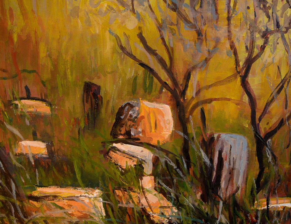 Evening Glow - Acrylic on canvas - 400 x 300mm