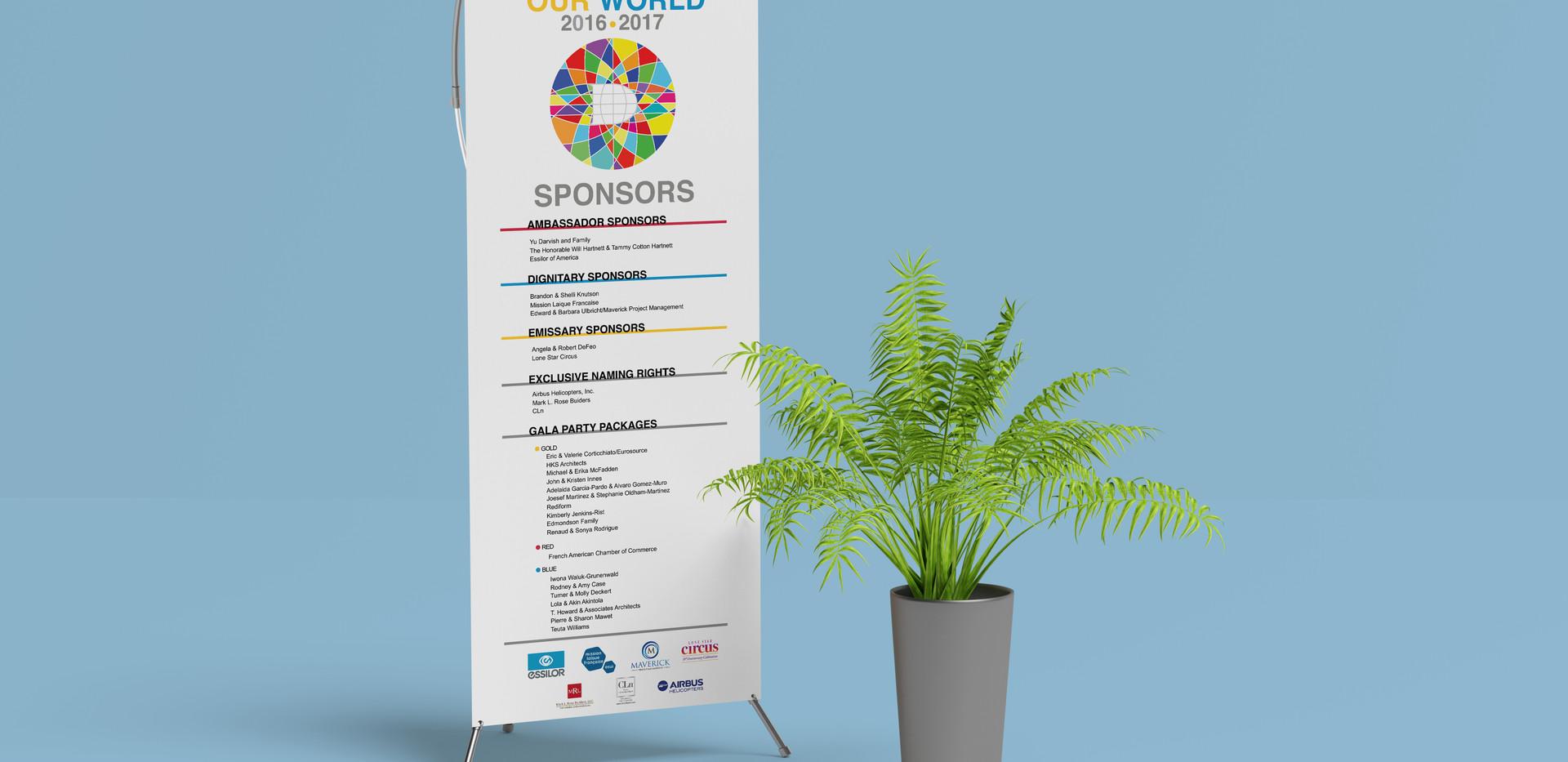 Event sponsors banner