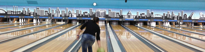 Above the lanes graphics