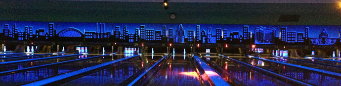 Above the lanes graphic by night/glow in the dark