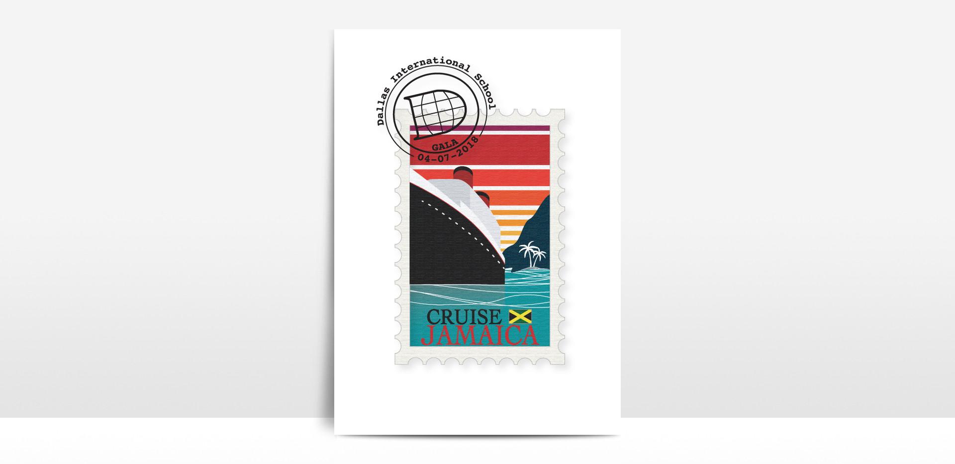 Gala logo postcard