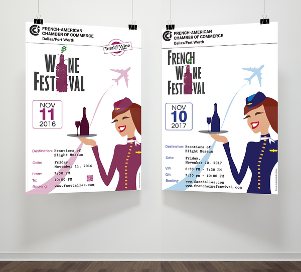 French Wine Festival posters